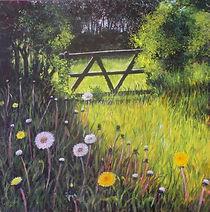 Acrylic painting wild flowers