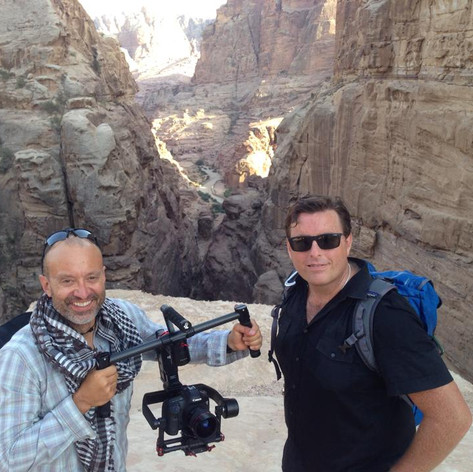 "Craig with ""The Insanity of God"" director Brad Knull at the ancient city of Petra in Jordan."