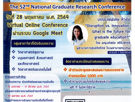 The 52 nd National Graduate Research Conference