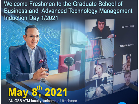 Welcome Freshmen to the Graduate School of Business and Advanced Technology Management Induction Day