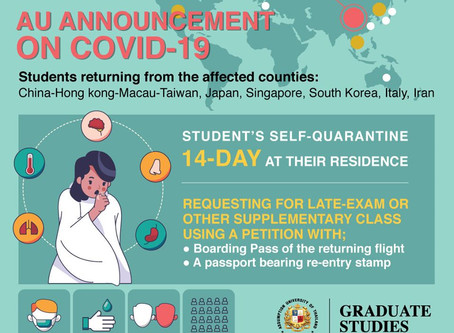 14-Day Self Quarantine for Students Returning from the affected Countries of Covid-19
