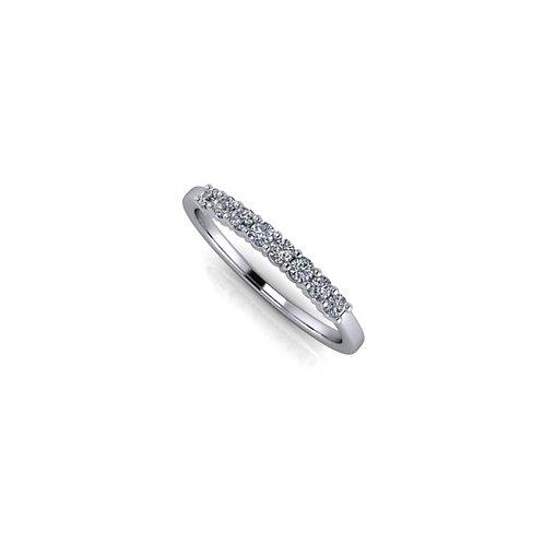 Claw set diamond wedding ring