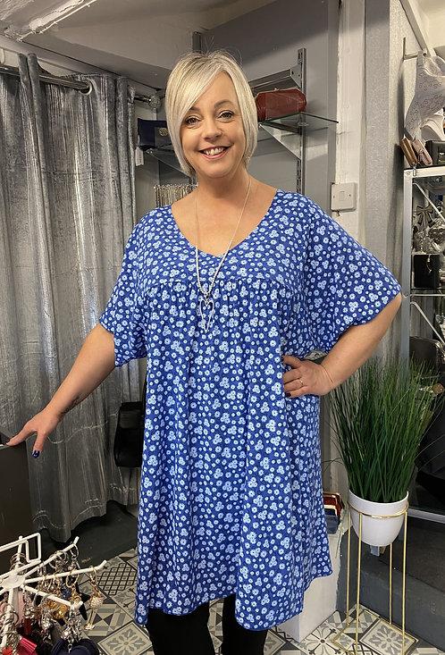 Elena V Neck Curvy Smock Dress