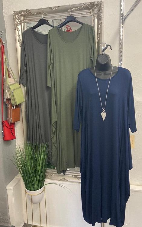 Crystal Jersey Parachute Dress