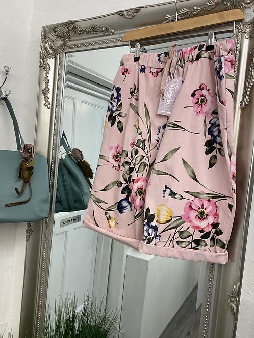 Magic Crop Trouser / Short Curvy Floral