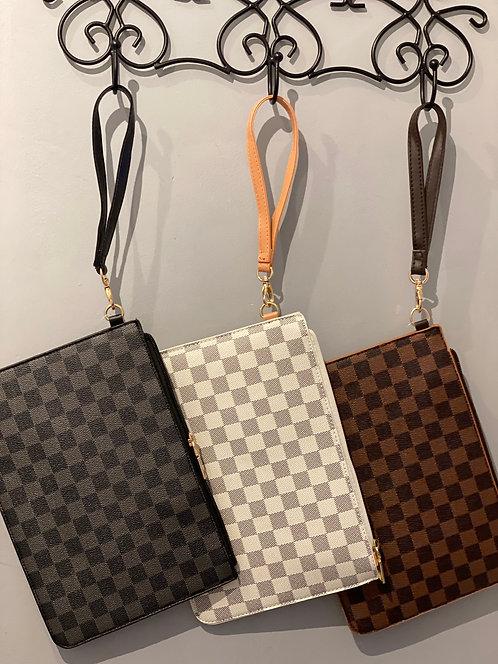 Faux Leather Large Purse/Clutch
