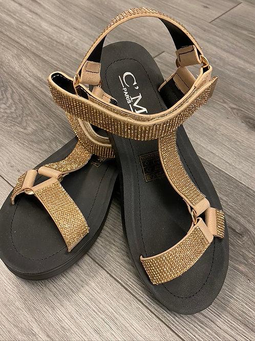 Platform Sandal Gold