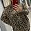 Thumbnail: Leopard Print Roll Neck Batwing Top