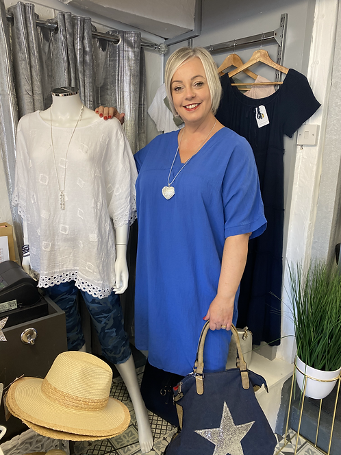 Sue Long V Neck Tunic / Dress