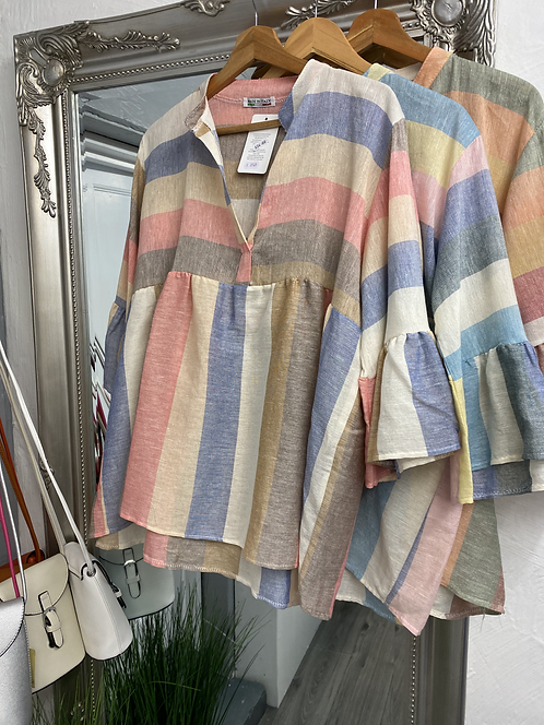 Emme Candy Stripe Cotton Top