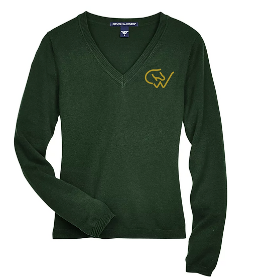 LADIES CWHBA V-NECK SWEATER