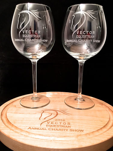 Cusom engraved wine glasses