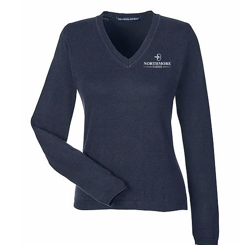 Ladies Northmore Vneck Sweater