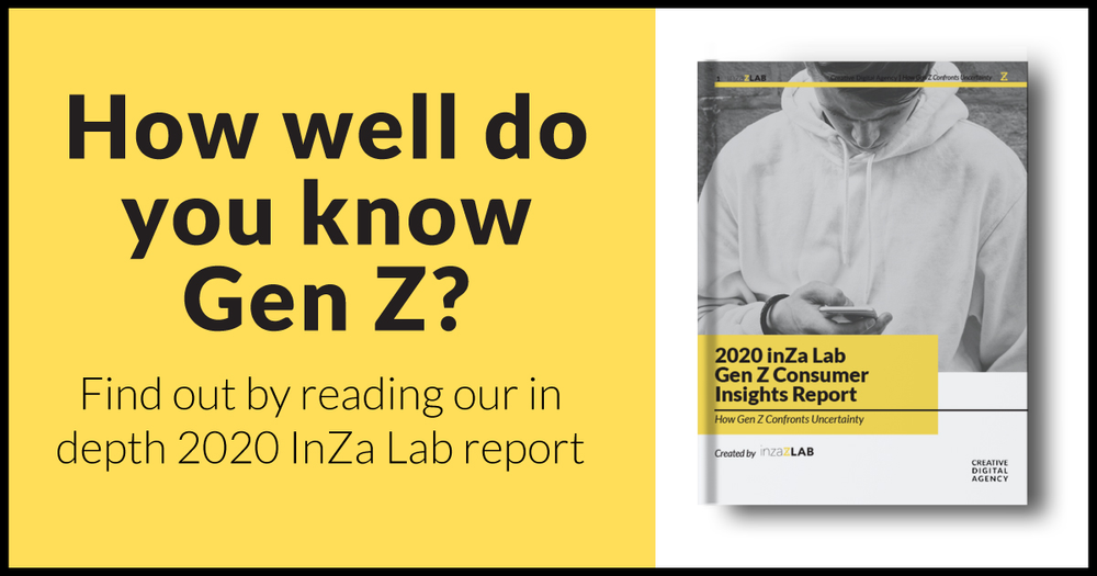 Creative Digital Agency's inZa Lab Releases 2020 Gen Z Consumer Insights Report