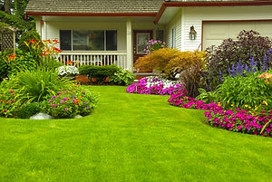 Manicured House and Garden displaying an