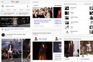 Google Launches Searchable Fashion Week Highlights