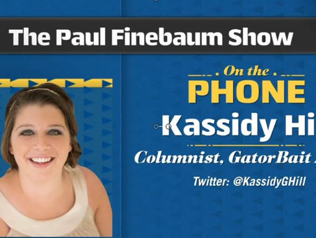 Our own Kassidy Hill makes her National TV Debut 'Not sure the SEC will approve yet'