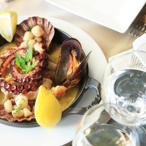 Frutos do mar Marinière