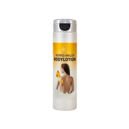 Honig-Milch Bodylotion mit Collagen, Jojobaöl, Allantoin und Panthenol