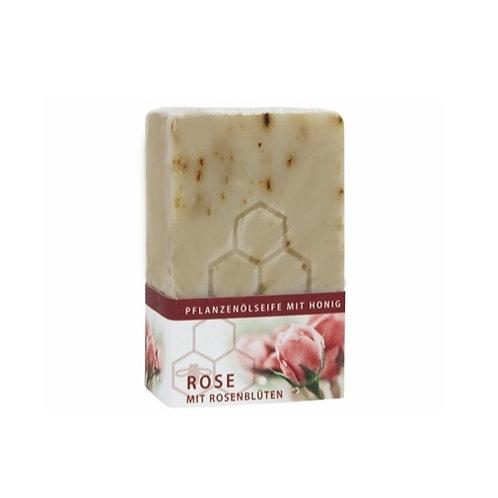 Rosenduft und echten Rosenblüten mit Honig - Pflanzenölseife