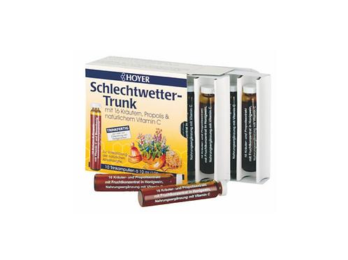 Schlechtwetter-Trunk mit 16 Kräutern, Propolis & natürlichem Vitamin C