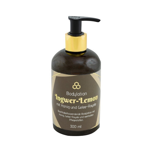 Ingwer-Lemon-Bodylotion mit Honig und Gelee-Royale