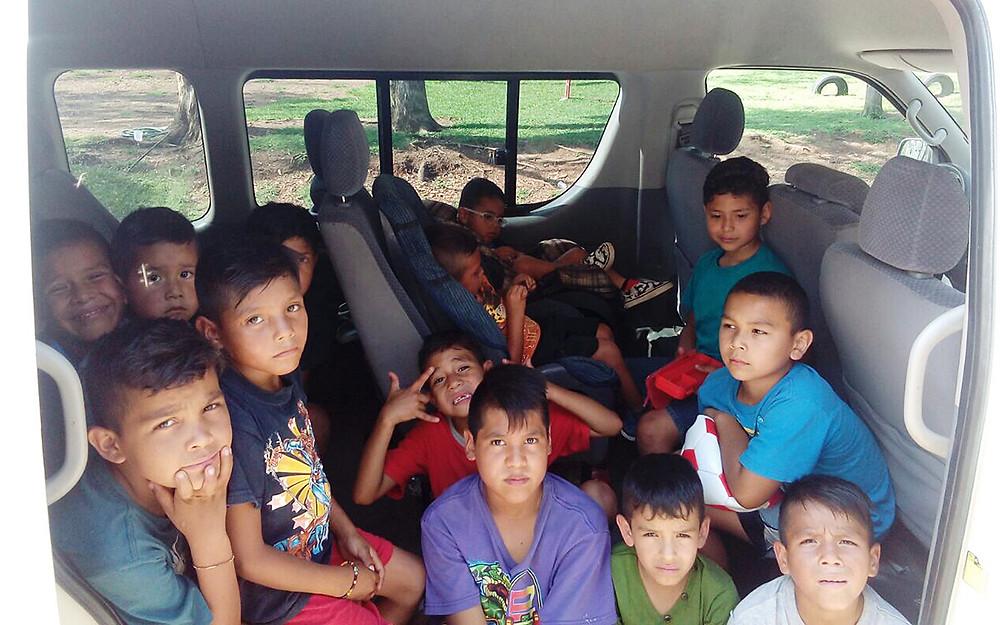 The Hope House van is full!