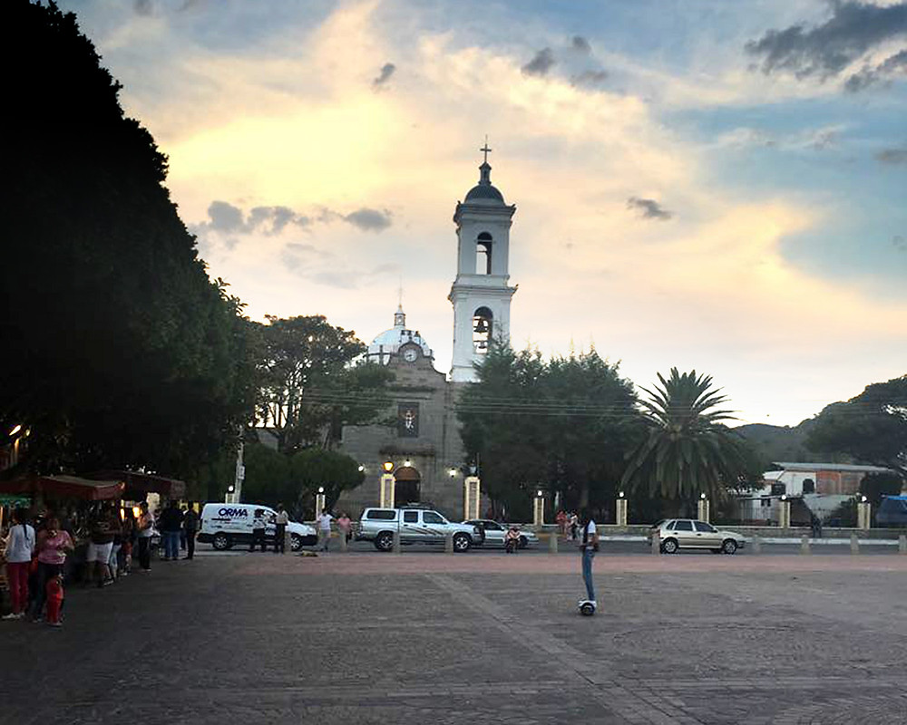 The plaza and Catholic Church in Ixtlahuacan