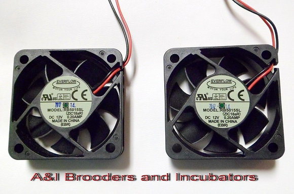 R-COM RCOM BLDC FAN 50 SET OF TWO FOR RCOM MX PX UX 20 & 50 INCUBATOR
