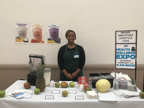 Nrgize Smoothies @ the Health and Wellness Expo!