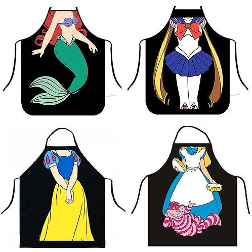 Apron Creative Kitchen Women Aprons Dinner Party Cooking Apron