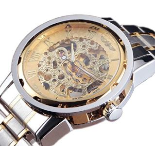 Gold Skeleton Watch