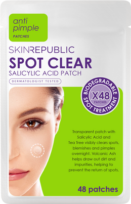 CLEAR ACNE OVERNIGHT - Introducing Skin Republic's Spot Clear Patch.