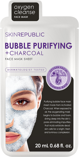 December favourite for our skin - The Bubble Purifying + Charcoal Face Mask Sheet from Skin Republic