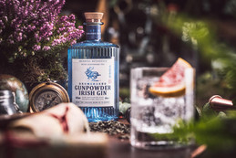 Stylish, Shed distilled and infusion of botanicals...Introducing Irish Drumshanbo Gunpowder Gin.