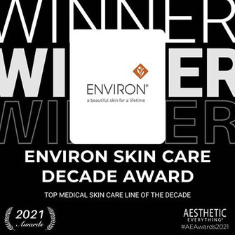 Environ® wins prestigious international award for the TOP MEDICAL SKIN CARE LINE OF THE DECADE.