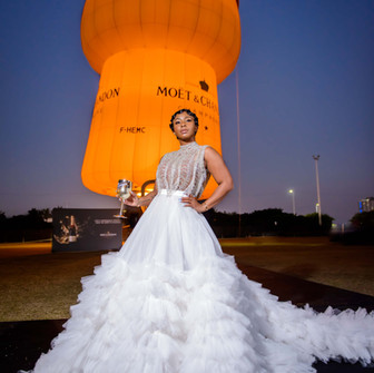 Boity toasts to her 5 million followers milestone with Moët & Chandon.