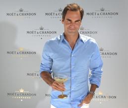 "MOËT & CHANDON celebrates Roger Federer in ""THE MATCH IN AFRICA 6""."