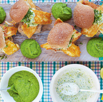 This Weeks featured 15 Minute Meal recipe - The BEST Fish Baps With Mushy Peas.
