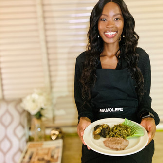 It's all about local food for Miss SA hopeful Tshegofatso Molefe.