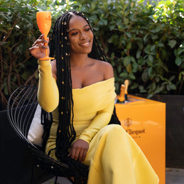 From SA to USA: Veuve Clicquot toasts to the success of Nomzamo Mbatha during Women's Month.