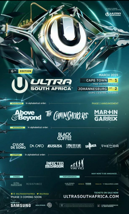 ULTRA SOUTH AFRICA 2019 PHASE 2 LINE-UP.