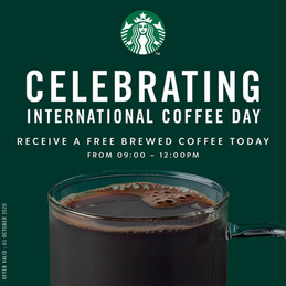 International Coffee Day with Starbucks.