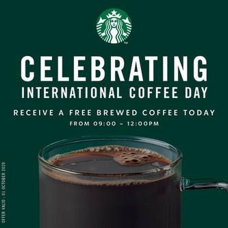 International Coffee Day with Starbucks.