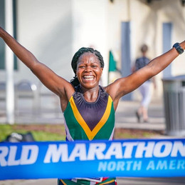 Glencore supports Africa's first woman to run 7 marathons on 7continents in 7 days.