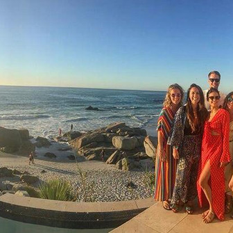 Julianne Hough, Nina Dobrev and their friends rang in the New Year in sunny South Africa.