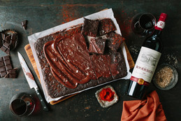 Winter indulgence with Roodeberg and chocolate brownies.
