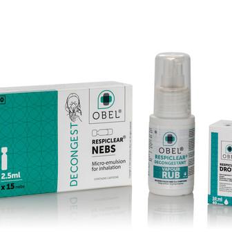 OBEL RESPIECLEAR New Eucalytptus & Menthol Formulation Has Excellent Anti-Viral Properties.