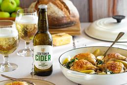 Winter Chicken Casserole enriched with Loxtonia Cider.