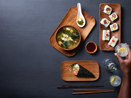 Plan a romantic night in with Oishi Sushi and Roku Gin.
